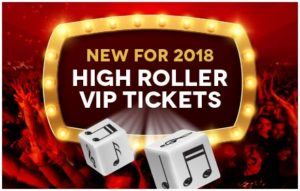 New for 2018: High Roller VIP Tickets!