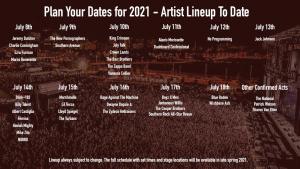 Artist Listings 2021