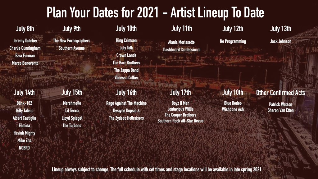 Artist Listings Image for 2021